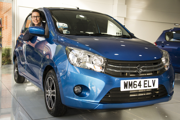 Sales executive Natalia Wilson behind the wheel of the new Suzuki Celerio