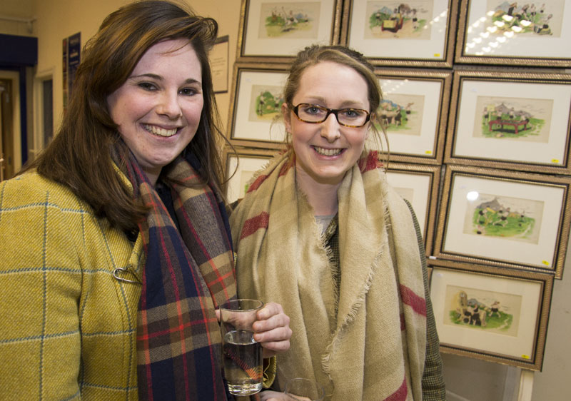 Jacks Whyatt-Watts of Strutt & Parker with Emily Bush of the Royal Agricultural University