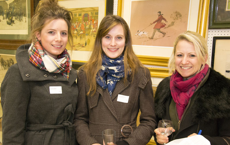 Juliette Burt of Bruton Knowles with Victoria Plume and Caitlin Banks of Dalcour Maclaren