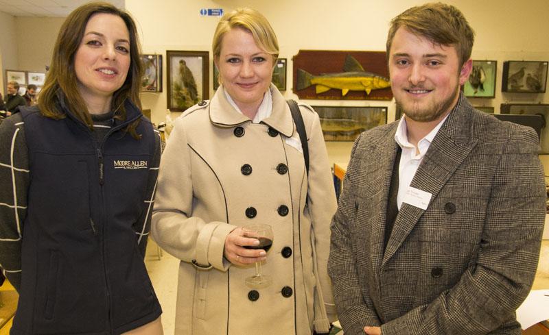 Lucie Rowe of Moore Allen & Innocent with Lauren Schwartz and Joe Trinder of Wotton Auction Rooms
