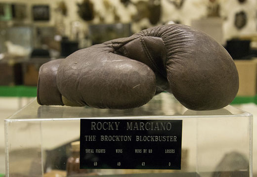 A boxing glove presented to gangster Reggie Kray by Rocky Marciano