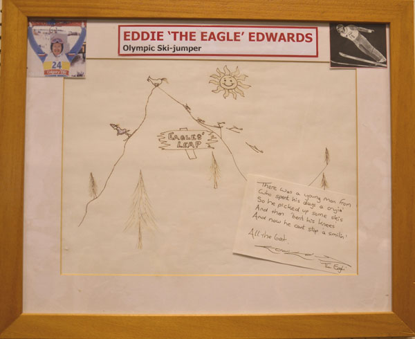 Eddie the Eagles piece of art
