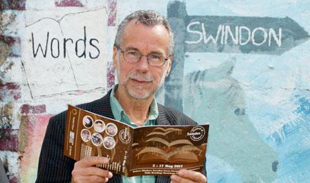 Festival director Matt Holland at the launch of Swindon Festival of Literature 2014