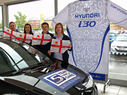 Flying the flag for England - Sean Quirk, Catherine Tippet, Luke Rapley and Natalia Wilson