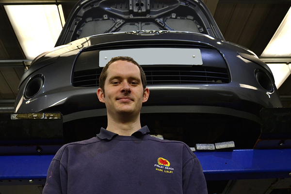 Mark Illsley who has been named Motor Technician of the Year by Suzuki