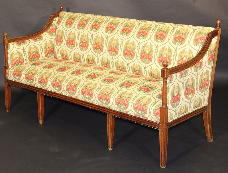 The George III mahogany framed sofa - which was reputedly owned by Thomas Lefroy