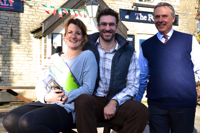 Alice and Freddie Whitefield with auctioneer Mark Hill